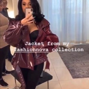 Cardi B Fashion Nova Oversized Moro Jacket